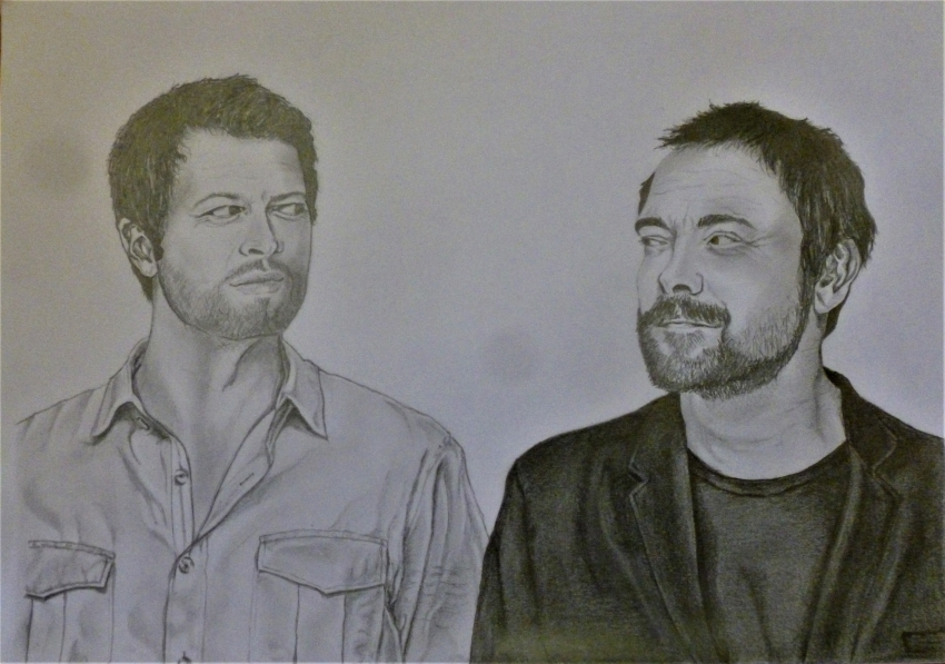 Misha Collins, Mark Sheppard by Fred